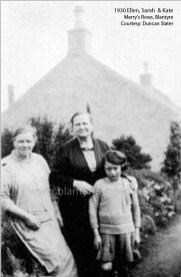 1930 Ellen, Sarah and Katie Slater 64 Merrys Rows