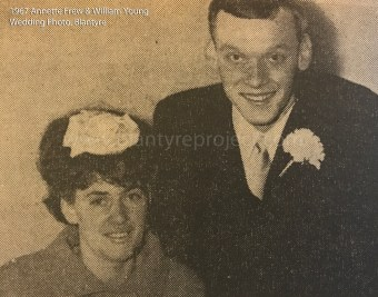 1967 Annette Frew & William Young, Blantyre