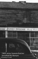 1960s Sweenies Butchers , Stonefield Rd