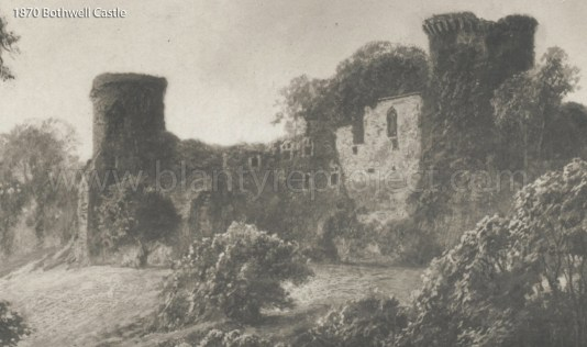 1870 Painting Bothwell Castle