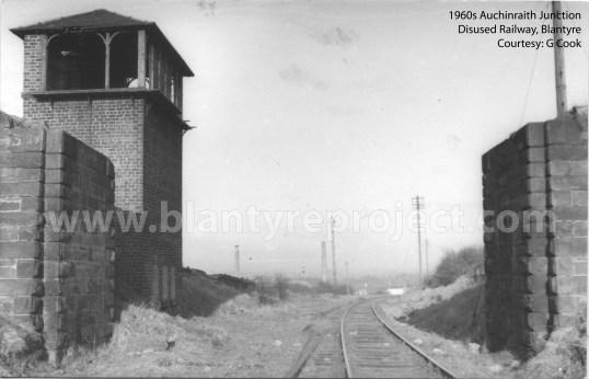 1960s Auchinraith junction with chimneys in background wm