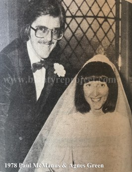 1978 Paul McManus & Agnes Green