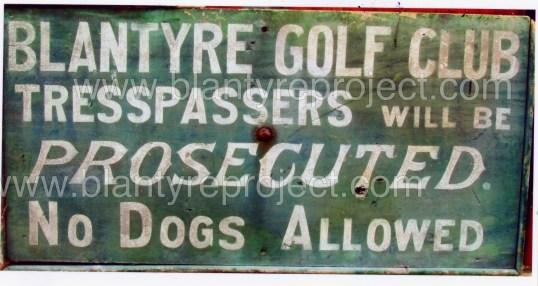 Golf Club sign copy