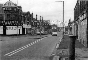 1977 Looking west, Central Premises left