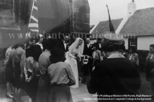 1950s Old Parish Wedding with Smithycroft in background