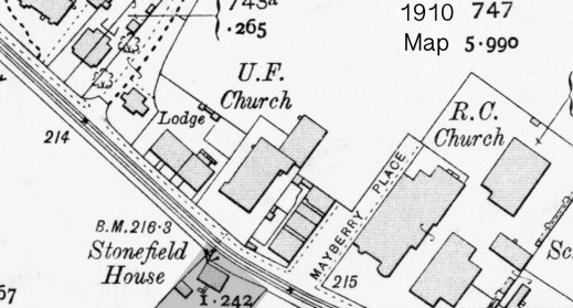 1910 Map Stonefield House
