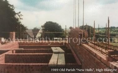 1989 Construction new Hall