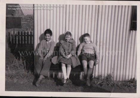 1960 Matthew McGuigan, Ann Duffy and John Haliburton at Gibsons Craig St wm
