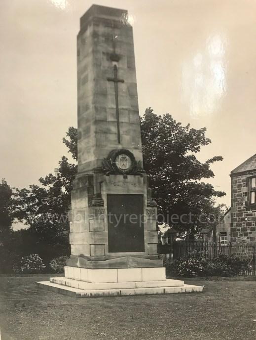 1930 BLantyre War Memorial wm