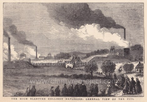 1877 High Blantyre Colliery Explosion Illustration wm
