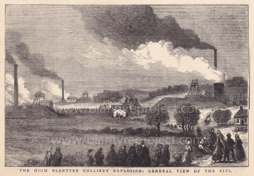 1877 High Blantyre Colliery Explosion Illustration wm