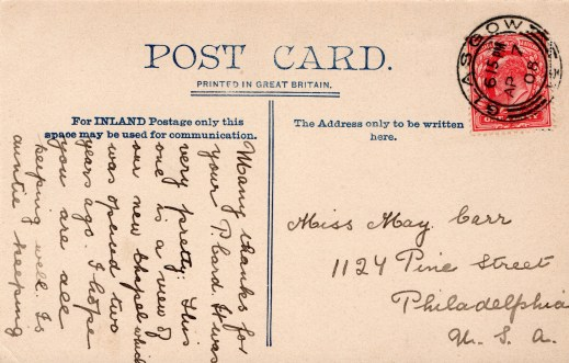 1908 back of St Joseph's pc
