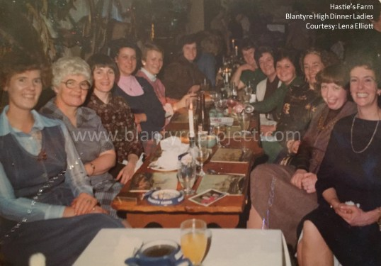 1984 Hasties night out Blantyre High Dinner Ladies wm