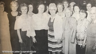1978 Blantyre Ladies Co-operative Guild xmas night