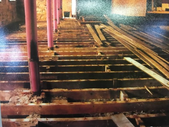 1980s repairs to Old Parish Church floor
