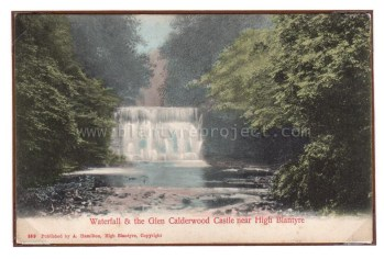 1910s Waterfall at Calderwood castle