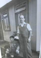 1950 Frank Scott at Mossgiel St Prefabs