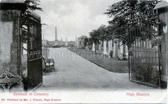 1905 High Blantyre Cemetery wm