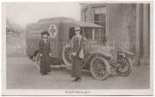1915 Rare photo Blantyre Ambulance at Milheugh House