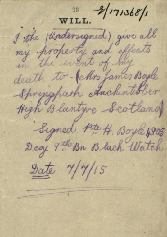 1915 Hugh Boyle Will3