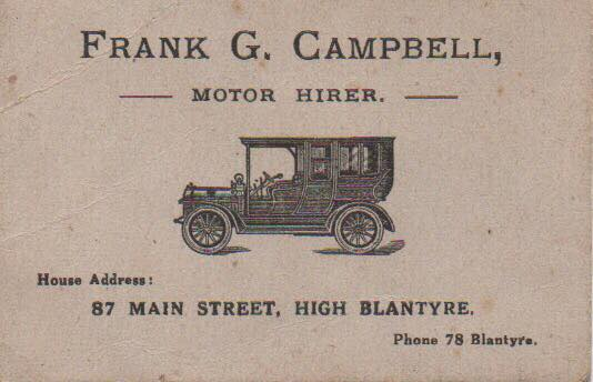 Frank G Campbell Motor Hirer
