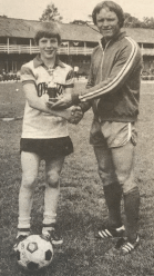 1980 Brian Fisher(13) with Tony Heaney Coach