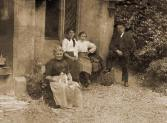 Thomas & Helena Thomson, & Margaret Wallace at Main Lodge