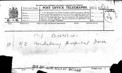 Post office telegram 3