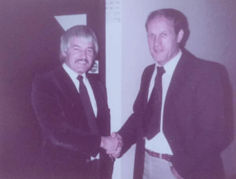 1982 Tommy Campbell (TC) and John Roswell at Stanley Hotel
