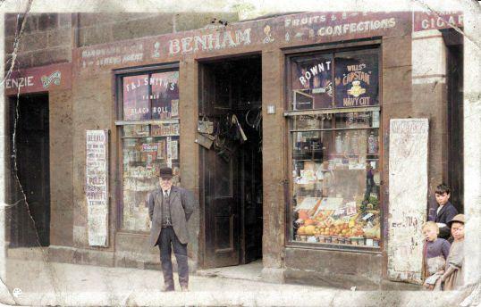 1921 william francis benham at 11 Stonefield Road-Colorized