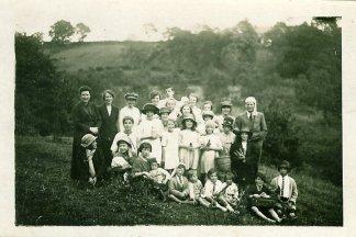 1927 Calder Picnic. My Gran Mary Danskin at the back near the tall chap