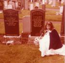 1978 Nancy Gilchrist at her grandparents grave