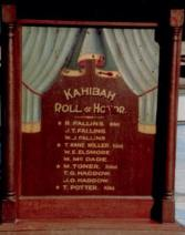 Kahibah Honours Roll for WW1