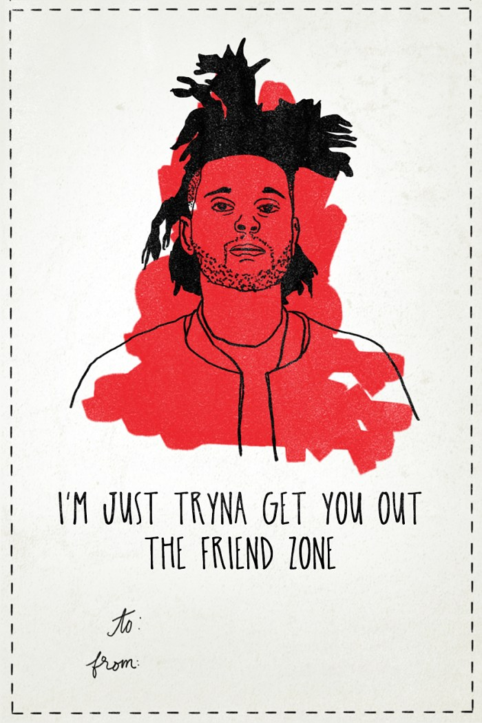 The Weeknd - Valentine's Day Card