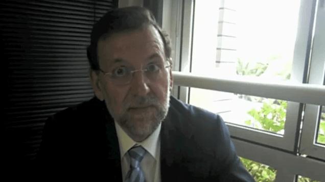 Rajoy no seu vídeo blog