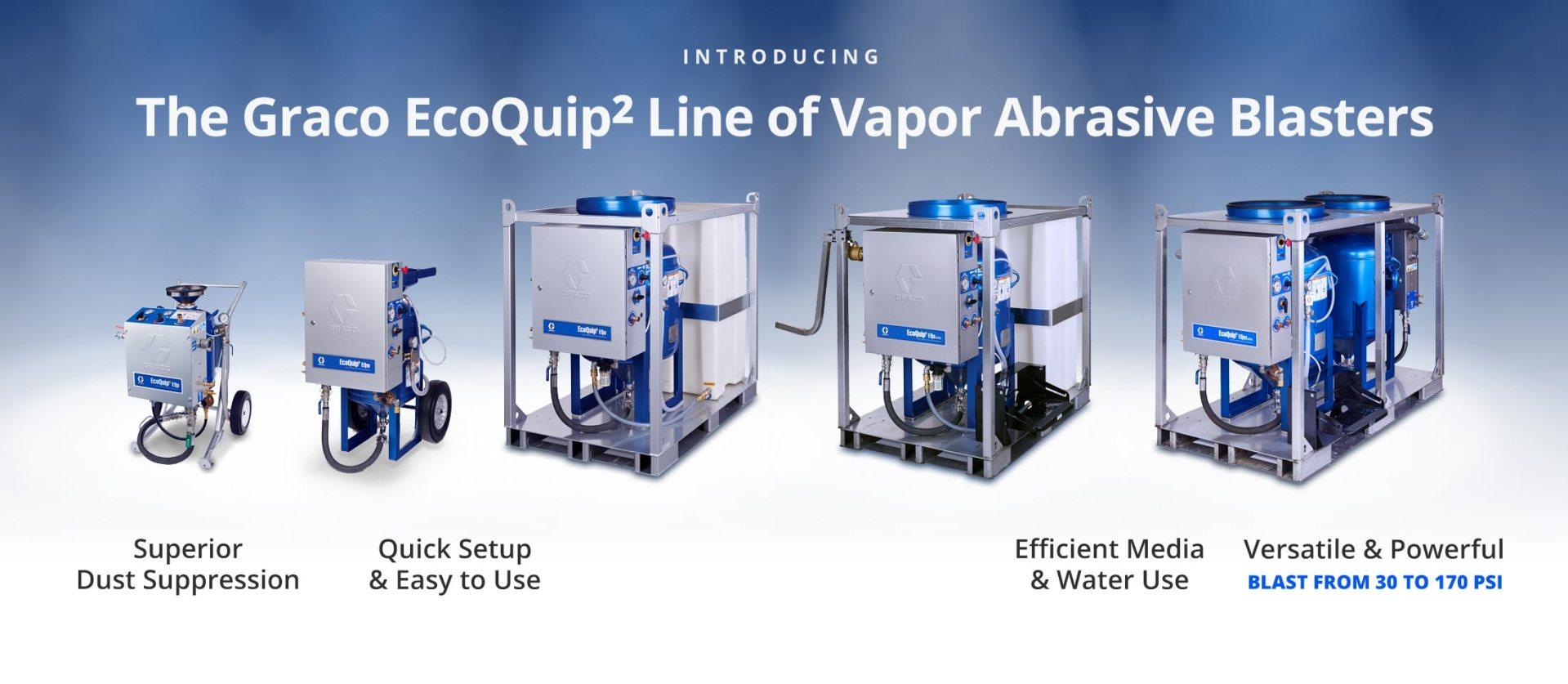 Blastall Equipment Amp Supply Graco Ecoquip Vapor Abrasive