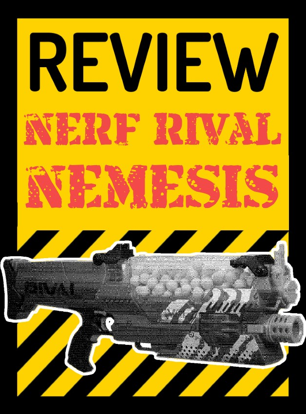 This is our review of the NERF Rival Nemesis. Like the NERF Rival Khaos it  is fully automatic and flywheel powered, but this one is hopper fed with a  ...