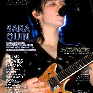 Blast Magazine, December 2007, Tegan and Sara