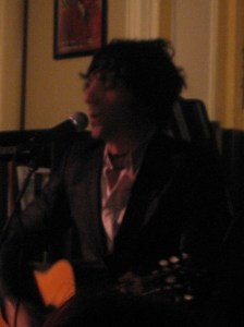 Jesse Malin preceded Juliana Hatfield at Housing Works Bookstore and Cafe in SoHo