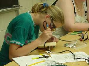 Educational programs like the Women in Technology Project, at Vermont Technical College, are committed to encouraging young women in middle school and high school to study math, science and technology. (Media credit/Vermont Technical College)