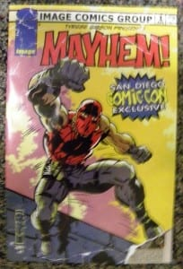 "Comic-Con exclusive ""Mayhem"" tribute to Jack Kirby"