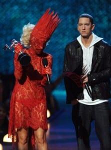 """Lady Gaga accepting """"Best New Artist"""" award"""