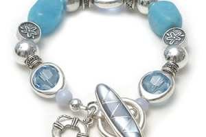 Bracelet for suicide prevention with mother of pearl toggle, $165