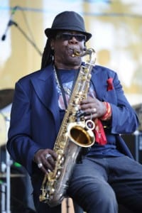 Clarence Clemons performs at the Miami Dolphins Tailgate Concert at Sun Life Stadium on November 14 in Miami (WireImage)