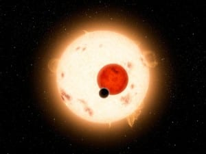 Kepler-16b orbits two suns, just like Tatooine