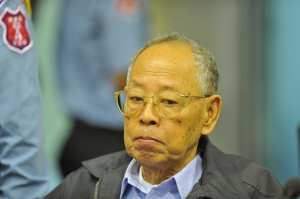 Accused Khmer Rouge Deputy Prime Minister Ieng Sary at ECCC Nov 21