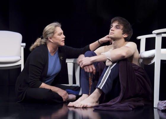 """Kathleen Turner and Evan Jonigkeit in """"High"""""""
