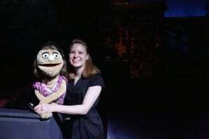 A photo of Spyres with the Kate Monster Muppet (Media credit/Courtesy of Henry Lussier)
