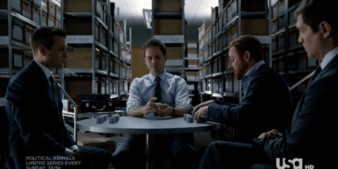 """In """"All In,"""" Harvey and Mike take on a case that involves a high-stakes poker game."""