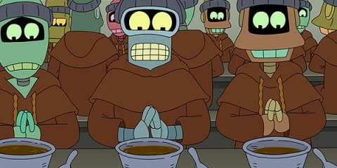 Bender joins the Order of the Binary Singularity in his quest for free will